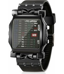 reloj deportivo hombre digital led cuadrado binario 518