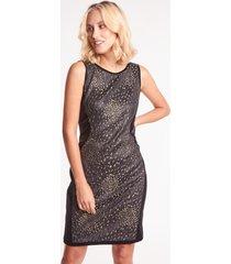 czarno-złota sukienka ołówkowa