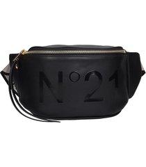 n.21 waist bag in black leather