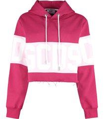 gcds logo cotton hoodie