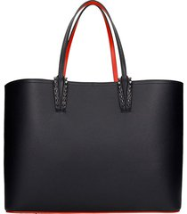 christian louboutin cabata tote in black leather