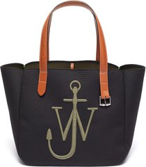 logo embroidered belt shoulder strap tote