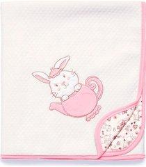 manta matelass㪠hora do ch㡠hug rosa e13813 - incolor - menina - dafiti