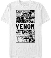 marvel men's comic collection venom comic panels short sleeve t-shirt