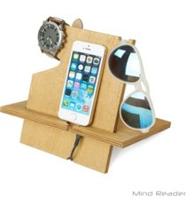 mind reader accessory dark wood accessory and media stand