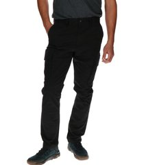 pantalon hombre slim stretch cargo negro cat