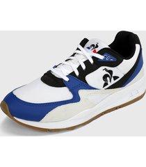 tenis lifestyle blanco-azul-negro le coq sportif