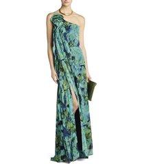 nalda one-shoulder long ruffle dress