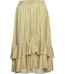3367 - nivi skirt/l knälång kjol multi/mönstrad sand