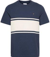 belair t-shirt t-shirts short-sleeved blå farah