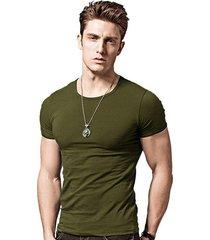 camiseta hombres manga corta slim fit mts408 verde