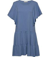 flowy dress kort klänning blå odd molly