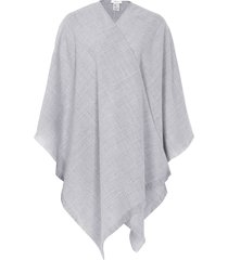 reiss yasmine - lightweight poncho in light grey, womens