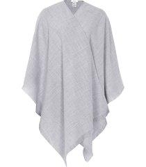reiss yasmine - lightweight poncho in light grey, womens