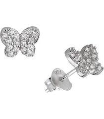 brinco borboleta com pedras em prata 925