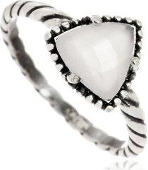 anel de prata sal do mar triângulo tulun branco