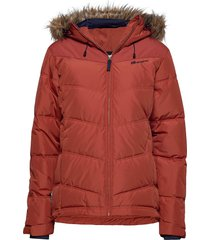 hunskor down jacket gevoerd jack oranje skogstad