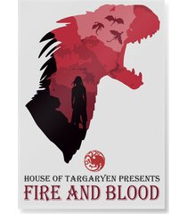 plakat fire and blood