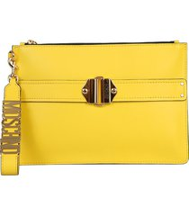 moschino designer handbags, pouch with logo