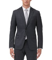 armani exchange men's modern-fit windowpane suit jacket separate