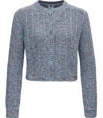 missoni crop cardigan in multicolor knitted lurex