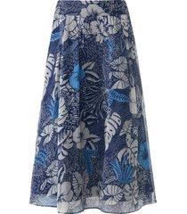 rok 100% zijde bandplooien rondom van uta raasch blauw