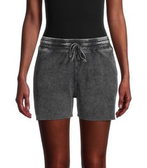 splendid women's waffle-knit shorts - washed black - size xs
