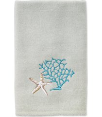 avanti beachcomber cotton embroidered fingertip towel bedding