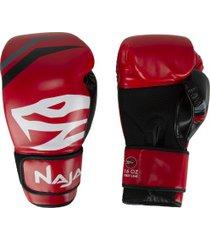 luvas de boxe naja first line - 16 oz - adulto - vermelho