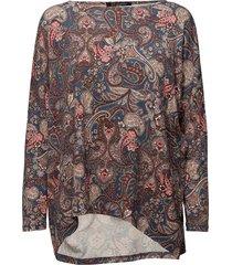 blouse blus långärmad multi/mönstrad ilse jacobsen