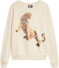 catwalk junkie sweat white tiger brazilian sand ecru