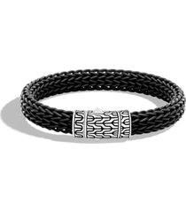 men's john hardy men's classic silver rubber chain bracelet