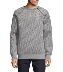 quilted raglan-sleeve sweater