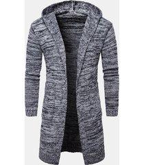 capispalla da uomo in cotone casual con cappuccio a manica lunga medio-lunga con cappuccio caldo e spesso