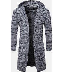 maglione a maniche lunghe da uomo in caldo cotone con maniche lunghe a maniche lunghe