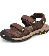 sandali casuali per gli uomini di grandi dimensioni in pelle anti-collsion
