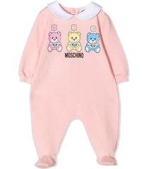 moschino pink stretch-cotton pajamas