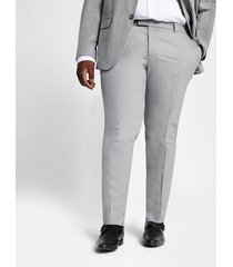 river island mens big and tall grey skinny fit suit pants