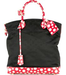 louis vuitton pre-owned dots lockit vertical mm kusama yayoi hand tote