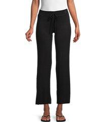 tart women's wide-band drawstring pants - black - size xl