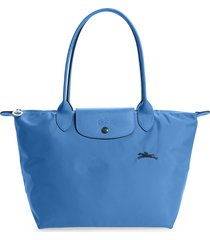 longchamp le pliage club small shoulder tote - blue