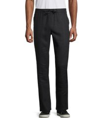 saks fifth avenue men's linen drawstring pants - blue wind - size l