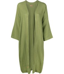 caravana fringed midi jacket - green