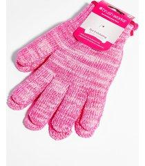 womens golden hour exfoliating gloves - pink