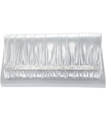 nina rhinestone shirred clutch