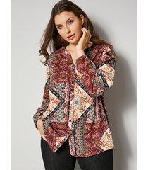 blouse sara lindholm terracotta