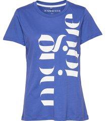 dhrio magique tee t-shirts & tops short-sleeved blå denim hunter