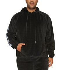mvp collections men's big and tall velour hoodie