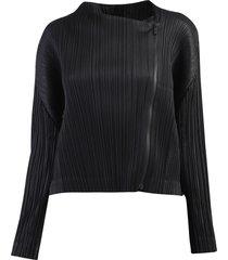 pleats please issey miyake black jacket