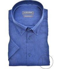 korte mouwen overhemd ledub blauw